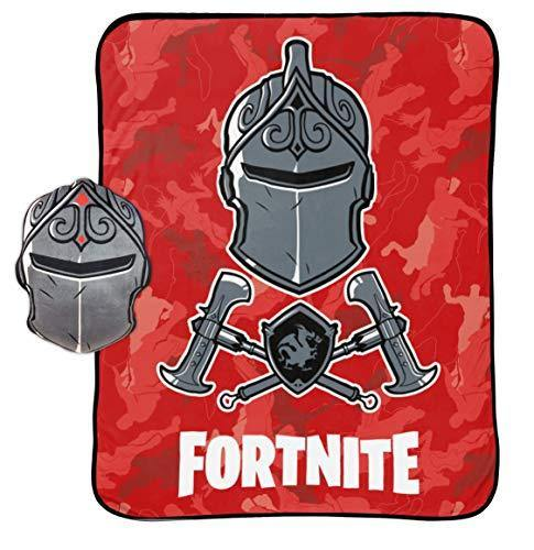 Jay Franco Black Knight Red Camo 2 Piece Nogginz Set (Official Fortnite Product) - PHUNUZ