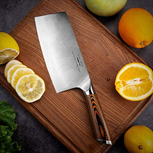 Load image into Gallery viewer, Meat Cleaver,7 inch Vegetable and Butcher Knife German High Carbon Stainless Steel Kitchen Knife chef knives with Ergonomic Handle for Home, Kitchen & Restaurant