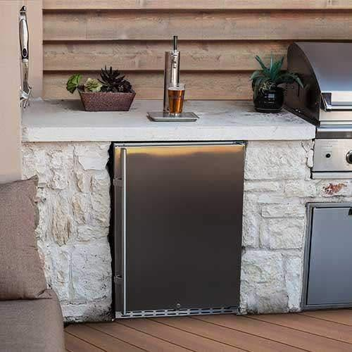 EdgeStar KC7000SSOD Full Size Tower Cooled Built-In Outdoor Kegerator - Stainless Steel - PHUNUZ