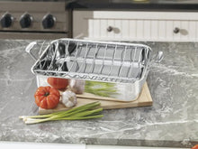 Load image into Gallery viewer, Cuisinart Chef's Classic Stainless 16-Inch Rectangular Roaster with Rack, Roaster Rack