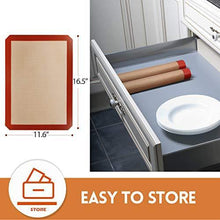 "Load image into Gallery viewer, STATINT Silicone Baking Mat Non-Stick, Set of 2 Half Sheet Heat Resistant Liner | Cookies, Meats, Vegetables, Pastries | Reusable, Eco-Friendly, Dishwasher Safe, 16.5"" x 11.6"" - PHUNUZ"
