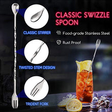 Load image into Gallery viewer, Hiware 10 Inch Stainless Steel Cocktail Muddler and Mixing Spoon Home Bar Tool Set - Create Delicious Mojitos and Other Fruit Based Drinks