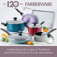 Load image into Gallery viewer, Farberware Dishwasher Safe Nonstick Sauce Pan/Saucepan with Straining and Lid, 1 Quart, Blue