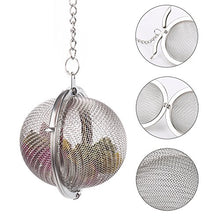Load image into Gallery viewer, 2Pcs Stainless Steel Tea Ball, 2.04 Inch Mesh Tea Infuser Strainers, Premium Tea Filter Tea Interval Diffuser for Loose Leaf Tea and Seasoning Spices
