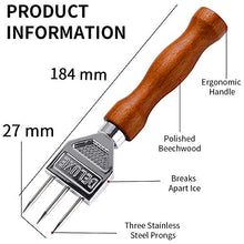 Load image into Gallery viewer, Ice Pick - 7.2 Inch Stainless Steel Ice Crusher with Wood Handle, Japanese Style Ice Chipper ideal for Bars and Home (3-Spike)
