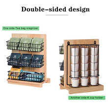 Load image into Gallery viewer, Tea Coffee Condiment Organizer,DIY Wall Mounted Tea Bag Condiment Storage&K Cup Holder for Using at Home,Break Room and Kitchen