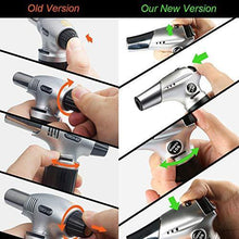 Load image into Gallery viewer, Blow Torch, Professional Kitchen Cooking Torch with Lock Adjustable Flame Refillable Mini Blow Torch Lighter for BBQ, Baking, Brulee Creme, Crafts and Soldering(Butane Gas Not Included) - PHUNUZ