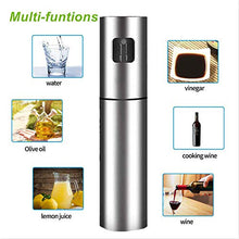 Load image into Gallery viewer, Upgraded Olive Oil Sprayer,Stainless Steel Oil Dispenser Spray Bottle for Kitchen Vinegar Spraying Cooking Salad Barbecue Grills,Include Oil Brush Cleaning Brush and Funnel
