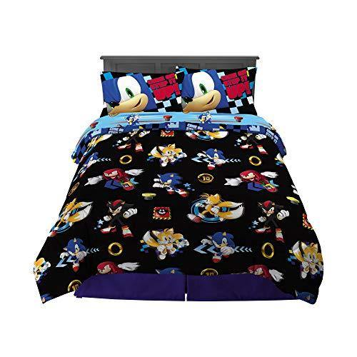 Franco Kids Bedding Super Soft Comforter and Sheet Set, 5 Piece Full Size, Sonic The Hedgehog - PHUNUZ