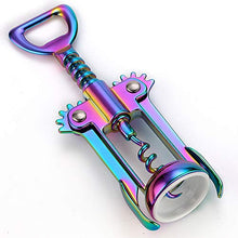 Load image into Gallery viewer, JXS Solid and Well Made Wing Corkscrew Rainbow Wine Opener and Beer Opener, Multifunctional Wine Corkscrew Opener