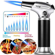 Load image into Gallery viewer, Culinary Butane Torch , ARCBLD Kitchen Refillable Butane Blow Torch with Safety Lock and Adjustable Flame for Crafts Cooking BBQ Baking Brulee Creme Desserts DIY Soldering(Butane Gas Not Included) - PHUNUZ