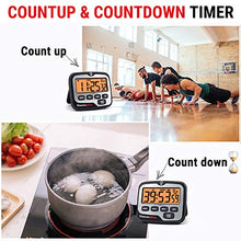 Load image into Gallery viewer, ThermoPro TM01 Digital Kitchen Timer with Touchable Backlit and Count up Countdown Timer Loud Ring Magnetic Classroom Timer for Kids Teachers
