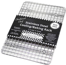 Load image into Gallery viewer, Checkered Chef Cooling Racks For Baking - Quarter Size - Stainless Steel Cooling Rack/Baking Rack Set of 2 - Oven Safe Wire Racks Fit Quarter Sheet Pan - Small Grid Perfect To Cool and Bake - PHUNUZ