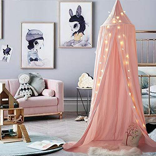 HEARTNICE Girls Bed Canopy Reading Nook Tent Dome Mosquito Net Hanging Decoration Indoor Game House for Baby Kids - PHUNUZ