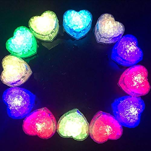 Hongtang Light Up Ice Cubes,12 Pack Flashing LED Ice Cube for Christmas Bathtubs Vases Weddings Ponds Club Bar Champagne Towers Party Holiday Decorations