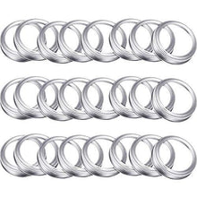 Load image into Gallery viewer, 24 Pieces Regular Mouth Canning Jar Replacement Metal Rings Practical Screw Jar Bands Leak Proof Tinplate Metal Bands Rings, Compatible with Mason Jar (Silver) - PHUNUZ