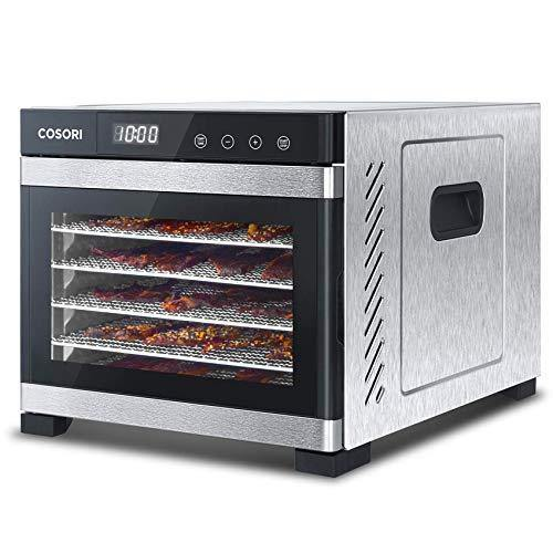 COSORI Premium Food Dehydrator Machine(50 Free Recipes), 6 Stainless Steel Trays with Digital Timer and Temperature Control for Beef,Jerky,Fruit,Dog Treats,Herbs,ETL Listed/FDA Compliant - PHUNUZ