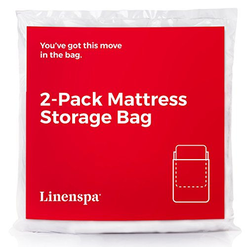 Linenspa Mattress Bag for Moving and Storage, Queen, Clear