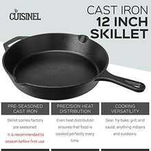 Load image into Gallery viewer, Pre-Seasoned Cast Iron Skillet (12-Inch) with Handle Cover Oven Safe Cookware - Heat-Resistant Holder - Indoor and Outdoor Use - Grill, Stovetop, Induction Safe