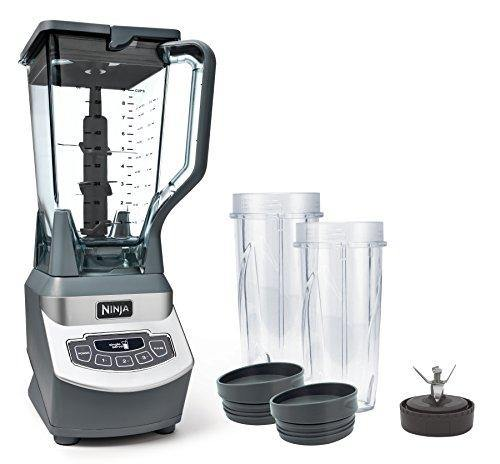 Ninja Professional Countertop Blender with 1100-Watt Base, 72 Oz Total Crushing Pitcher and (2) 16 Oz Cups for Frozen Drinks and Smoothies (BL660), Gray - PHUNUZ