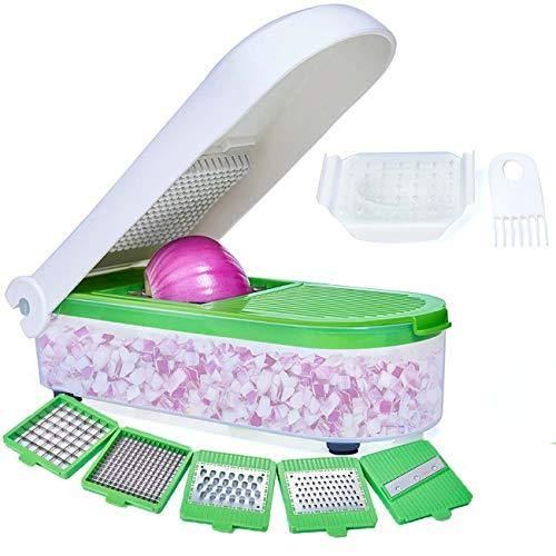 LHS Vegetable Chopper, Pro Onion Chopper Slicer Dicer Cutter - Cheese & Veggie Chopper - Food Chopper Dicer with 5 Blades - PHUNUZ