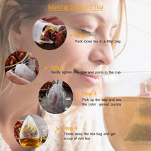 Load image into Gallery viewer, 200 PCS Tea Filter Bags for Loose Tea with Drawstring, Angooni Disposable Empty Tea Bags (3.54 x 2.75 inch)