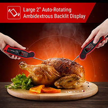 Load image into Gallery viewer, ThermoPro TP19 Waterproof Digital Meat Thermometer for Grilling with Ambidextrous Backlit & Thermocouple Instant Read Thermometer Kitchen Cooking Food Thermometer for Candy Water Oil BBQ Grill Smoker
