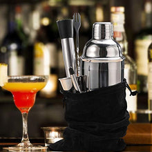Load image into Gallery viewer, 24 oz Cocktail Shaker Bartender Set by Aozita, Stainless Steel Martini Shaker, Mixing Spoon, Muddler, Measuring Jigger, Liquor Pourers with Dust Caps and Manual of Recipes, Professional Bar Tools