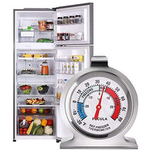 Load image into Gallery viewer, 2 Pack Refrigerator Thermometer -30~30°C/-20~80°F, Classic Fridge Thermometer Large Dial with Red Indicator Thermometer for Freezer Refrigerator Cooler