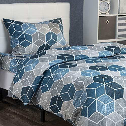 XLNT Twin Bedding Set (3 Piece Set) Blend| Twin Size Duvet/Comforter Cover, Bed Sheet, Pillow Cover | Super Soft, Deep Pockets, Machine Washable for Kids (Boys & Girls) Or Guest Room - PHUNUZ