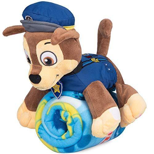 Paw Patrol Fleece Throw Blanket & Chase Cuddle Plush Toy - Kids - PHUNUZ