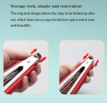 Load image into Gallery viewer, Stainless Steel Kitchen Cooking Tongs, 12-inch Barbecue Locking Grill Food Tongs Food Tongs Stainless Steel Barbecue Tongs Buffet Kitchen Anti-scalding Bread Tongs Steak Tongs Barbecue Food Tongs