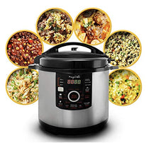 Load image into Gallery viewer, Megachef MCPR-3500 12 Quart Digital Pressure Cooker with 15 Presets, Silver