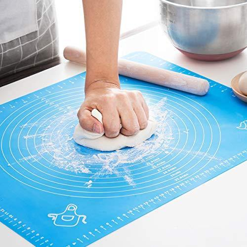 LIMNUO Silicone Pastry Mat for Pastry Rolling with Measurements, Thick Non Stick Baking Mat with Measurement Fondant Mat, Counter Mat, Dough Rolling Mat - PHUNUZ