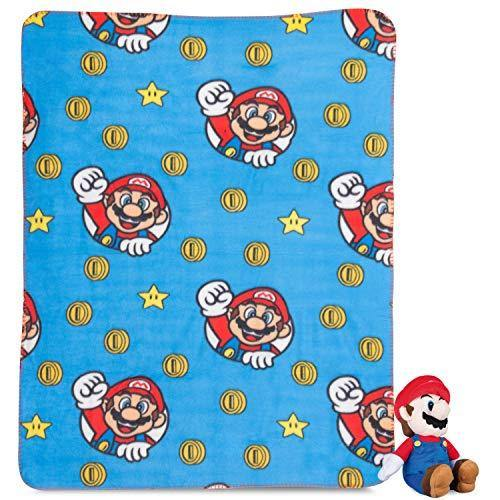 Super Mario Plush Hugger Blanket Kids Throw Boys Children - PHUNUZ