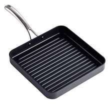 Load image into Gallery viewer, Cooks Standard Hard Anodized Nonstick Square Grill Pan, 11 x 11-Inch, Black