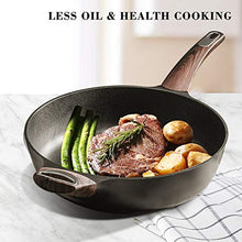 Load image into Gallery viewer, Sensarte Nonstick Skillet,Deep Frying Pan with Glass Lid,Cooking Pan with Soft Bakelite Handle, Saute Pan Chef's pan Omelet Pans for All Stove Tops,Healthy and Safe Cookware,PFOA Free (12 Inch)