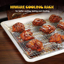 Load image into Gallery viewer, Hiware 2-Pack Cooling Racks for Baking, Stainless Steel Wire Rack Baking Rack Oven Rack Cookie Rack, Oven Safe, Rust-Resistant Rack for Cooking, Baking, Roasting and Grilling - Fit Half Sheet Pan - PHUNUZ