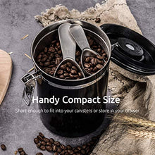 Load image into Gallery viewer, Coffee Scoop: U-Taste Durable 18/8 Stainless Steel Measuring Coffee Scoop 1 tablespoon & 2 tablespoon