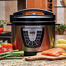 Load image into Gallery viewer, Power Pressure Cooker XL XL 10-Quart Electric Pressure, Slow, Rice Cooker, Steamer & More, 7 One-Touch Programs, Stainless/Black