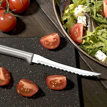 Load image into Gallery viewer, Rada Cutlery Tomato Slicing Knife – Stainless Steel Blade With Aluminum Handle Made in USA, 8-7/8 Inches