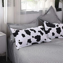 Load image into Gallery viewer, Mengersi Duvet Cover Sets Cartoon Bedding Sets Reversible Bedding Collections Soft for Kids Boys Girls (Queen, Cow) - PHUNUZ