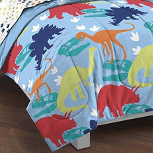 Load image into Gallery viewer, dream FACTORY Kids 5-Piece Complete Set Easy-Wash Super Soft Comforter Bedding, Twin, Multicolor Dinosaur Prints - PHUNUZ
