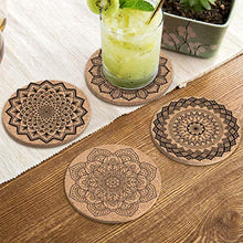 Load image into Gallery viewer, Coasters for Drinks Absorbent Cork Coasters with Holder Housewarming Gifts for New Home Present for Friends,Living Room Decor,Apartment Decor