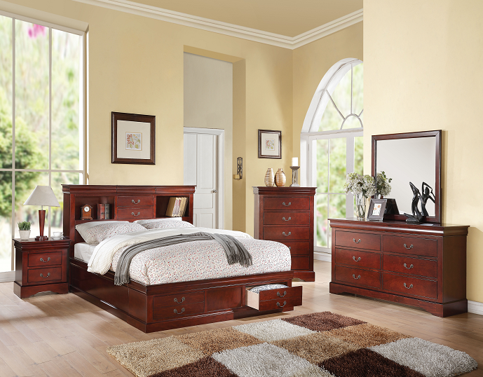 Louis Philippe III Cherry Eastern King Bed image
