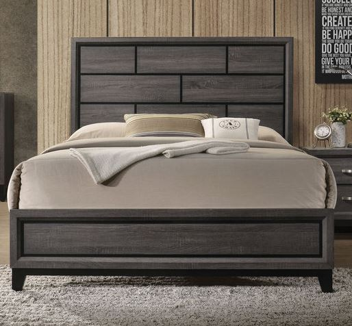 Acme Furniture Valdemar King Panel Bed in Weathered Gray 27047EK image