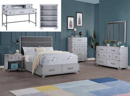 Orchest Gray PU & Gray Full Bed (Storage) image