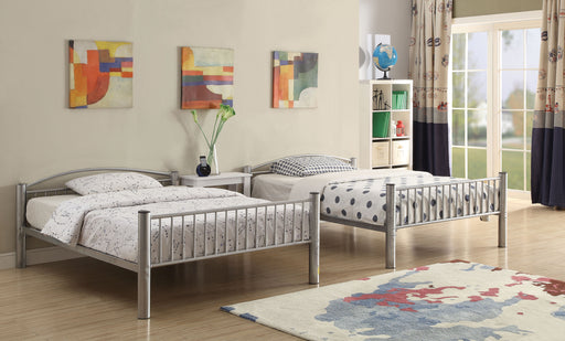 Cayelynn Silver Bunk Bed (Full/Full) image