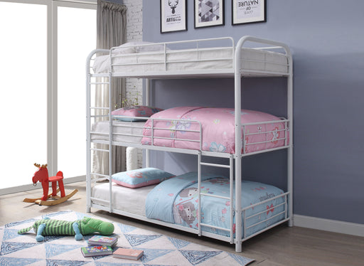 Cairo White Bunk Bed (Triple Twin) image