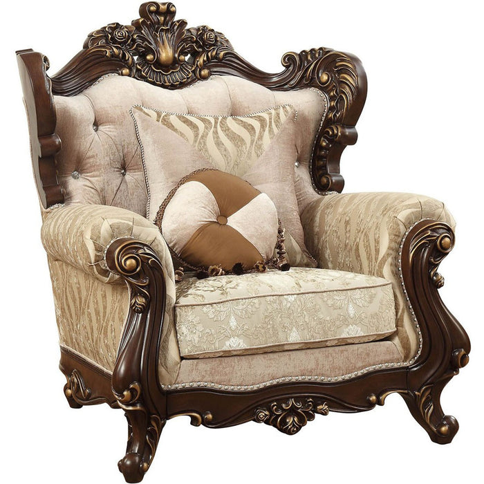 Acme Furniture Shalisa Chair with 2 Pillows in Walnut 51052 image
